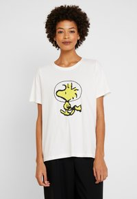 s.Oliver - WOODSTOCK - T-shirt con stampa - creme - 0