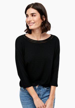 3/4 SLEEVE - Long sleeved top - black
