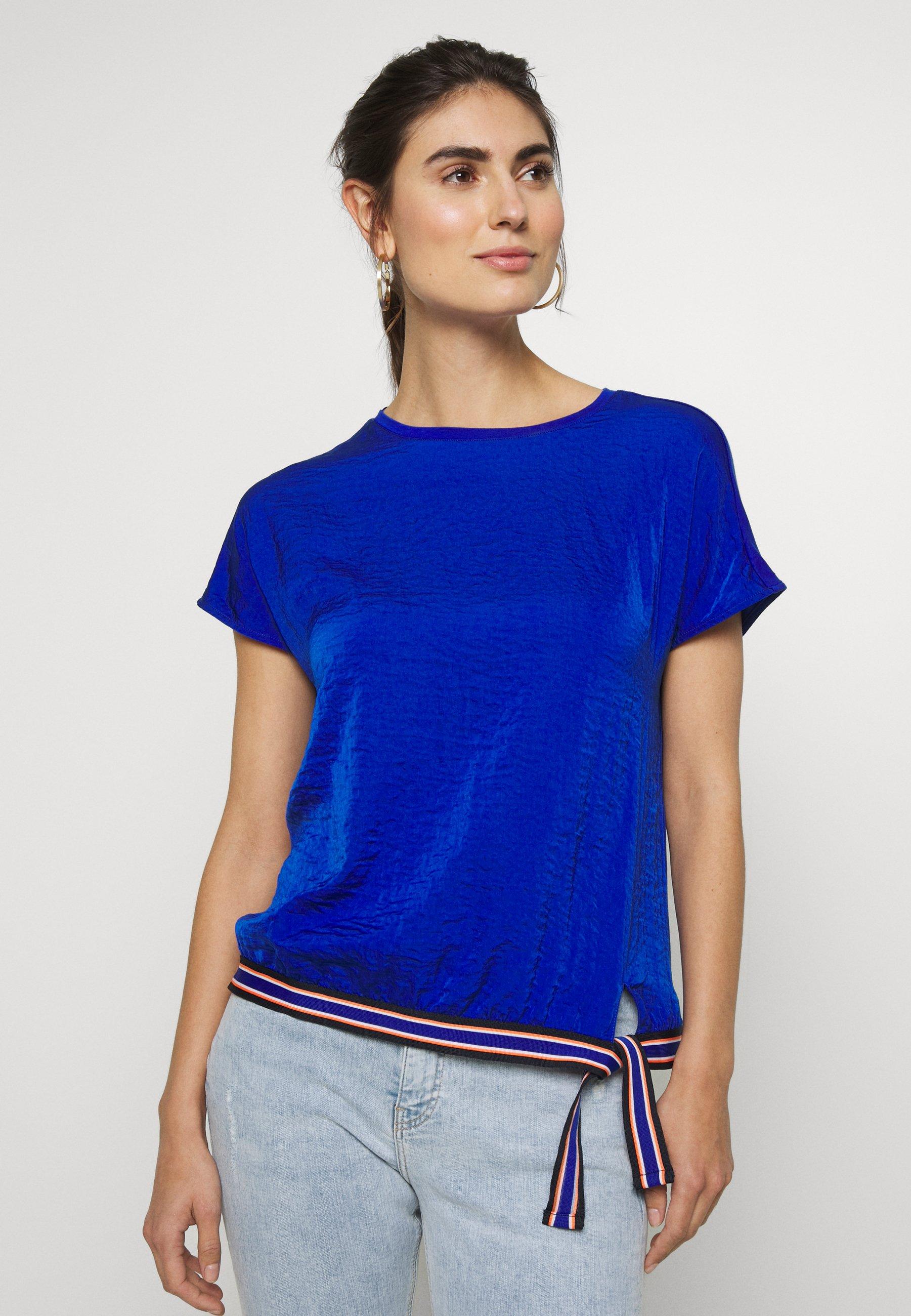 s.Oliver T-shirts med print - cobalt blu