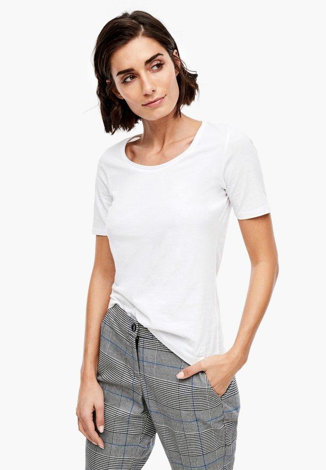 UNICOLORE - T-Shirt basic - white