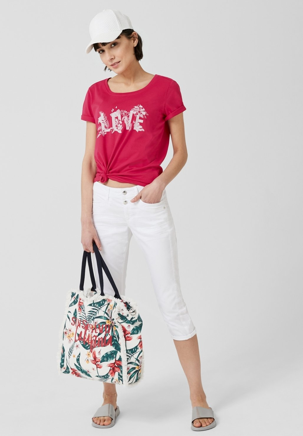 S.oliver Print T-shirt - Lilac
