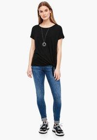 s.Oliver - KURZARM - Basic T-shirt - black - 1