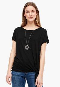 s.Oliver - KURZARM - Basic T-shirt - black - 0