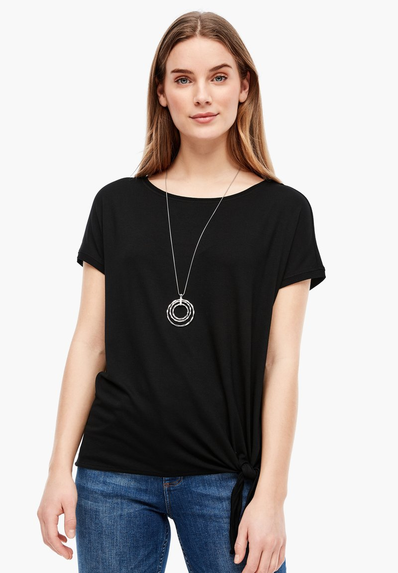 s.Oliver - KURZARM - Basic T-shirt - black