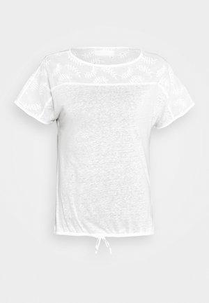 T-shirt z nadrukiem - cream