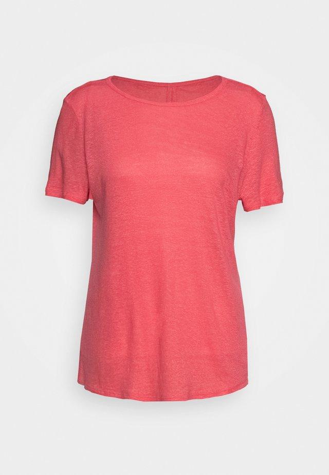 KURZARM - Jednoduché triko - coral red