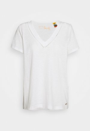 T-shirt con stampa - cream