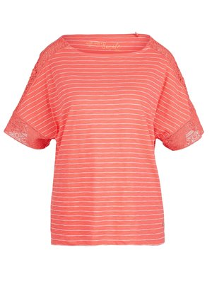 KURZARM - Print T-shirt - coral stripes