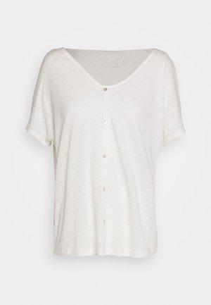 KURZARM - Print T-shirt - cream