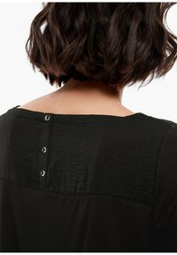 s.Oliver - MATERIALMIX-SHIRT MIT SATIN-FRONT - Blouse - black - 5