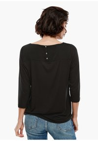 s.Oliver - MATERIALMIX-SHIRT MIT SATIN-FRONT - Blouse - black - 2
