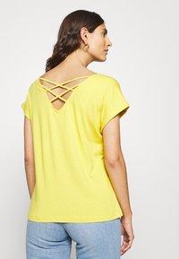 s.Oliver - KURZARM - T-shirt basic - goldgelb - 2