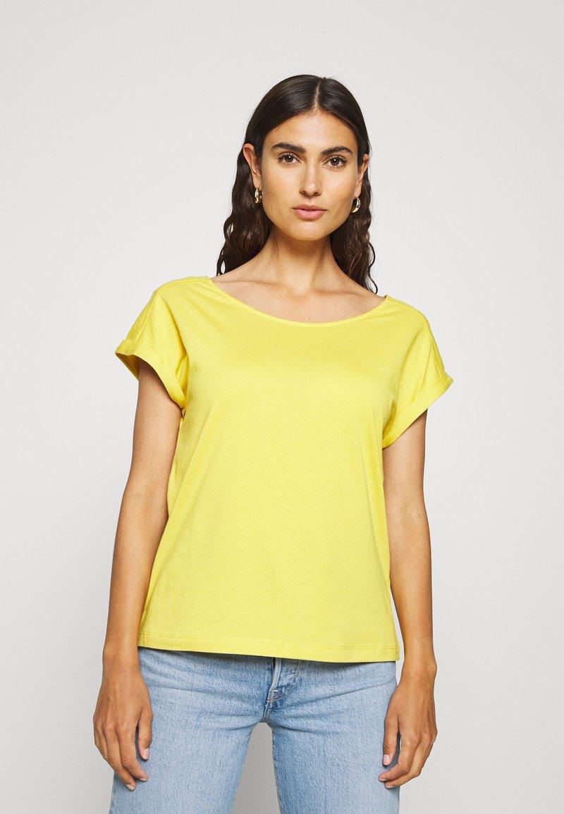 s.Oliver - KURZARM - T-shirt basic - goldgelb