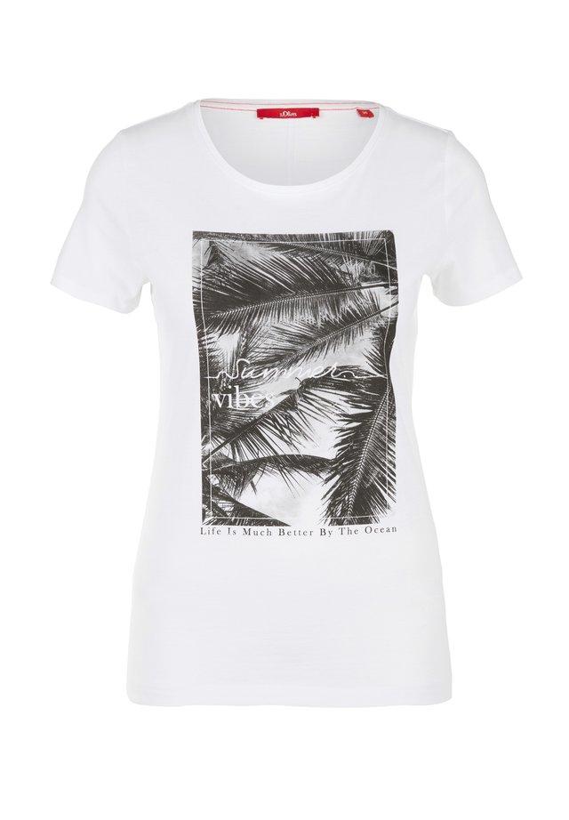 T-Shirt print - white summer vibes print