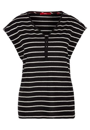 MIT RINGELMUSTER - Print T-shirt - black stripes