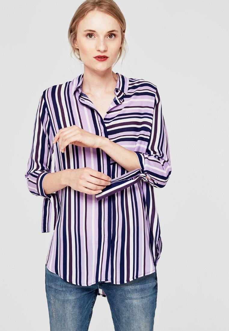 s.Oliver - IM STREIFEN-LOOK - Button-down blouse - pink lavender