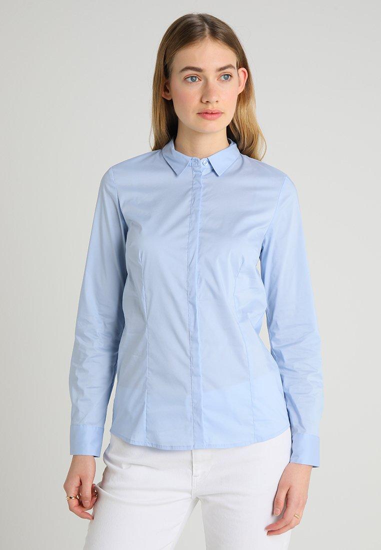 s.Oliver - LANGARM - Button-down blouse - mirage blue