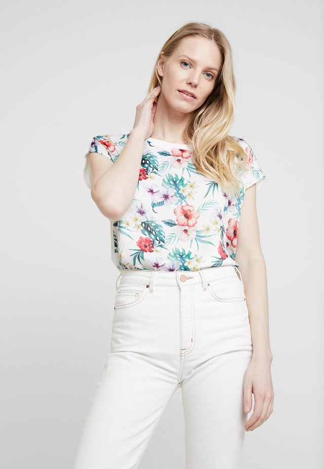 T-SHIRT KURZARM - Blouse - cream