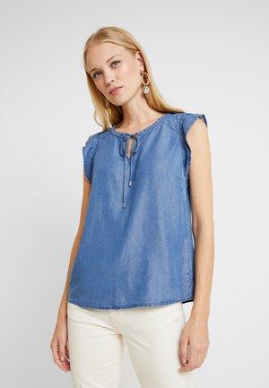 Bluse - blue denim