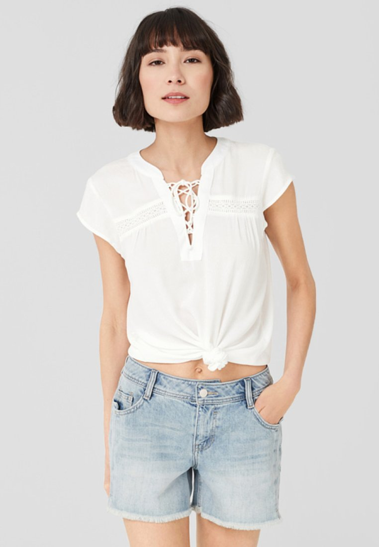 S.oliver Mit Webmuster - Blouse Off-white UwQlZoWR
