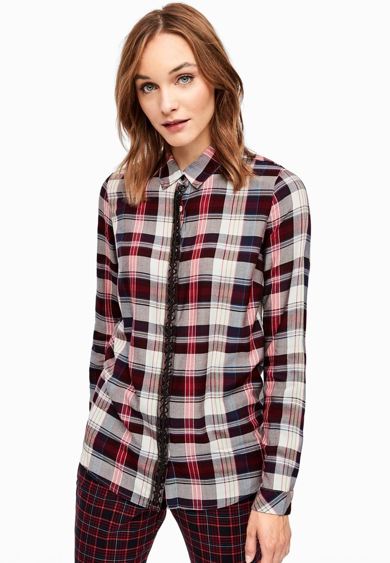 s.Oliver - Button-down blouse - brown