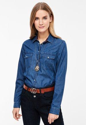 Overhemdblouse - dark blue denim