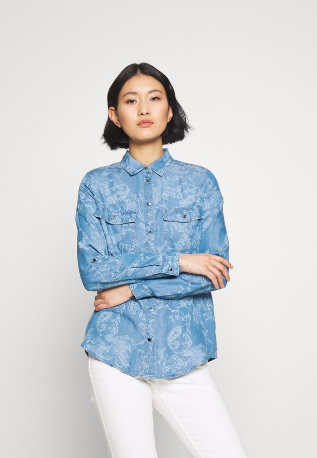 Button-down blouse - air blue