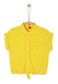 s.Oliver - BLUSE KURZARM - Button-down blouse - yellow aop - 0