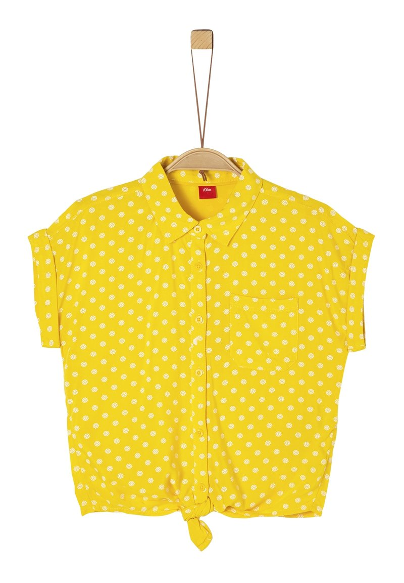 s.Oliver - BLUSE KURZARM - Button-down blouse - yellow aop