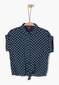 s.Oliver - BLUSE KURZARM - Button-down blouse - dark blue aop - 0