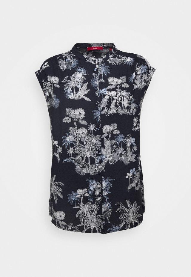 Button-down blouse - dark blue