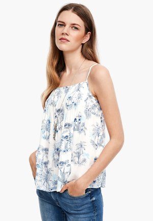 MIT SOMMER-PRINT - Blouse - offwhite aop palm trees