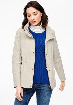 MIT STEHKRAGEN - Light jacket - beige