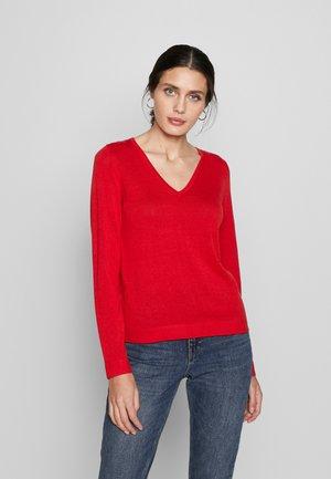 LANGARM - Sweter - red