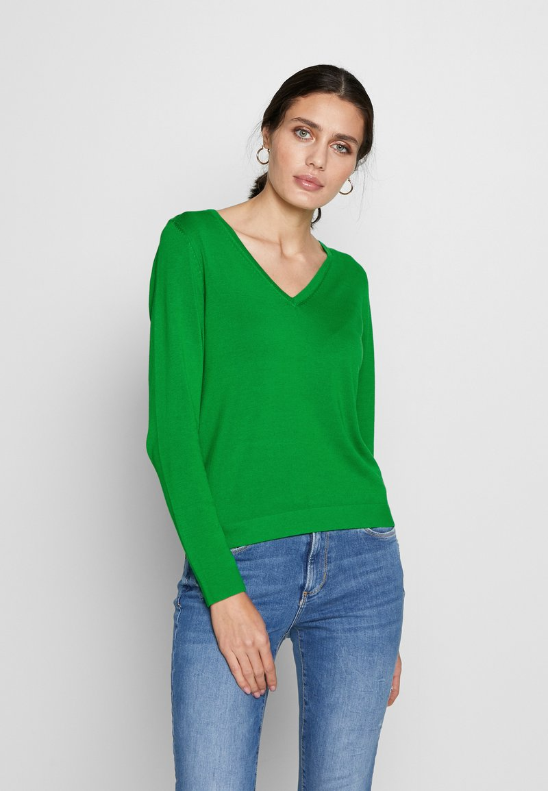 s.Oliver - LANGARM - Sweter - neon green