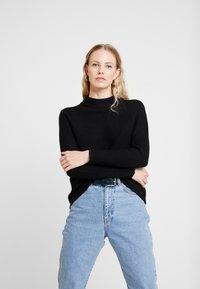 s.Oliver - LANGARM - Stickad tröja - black - 0