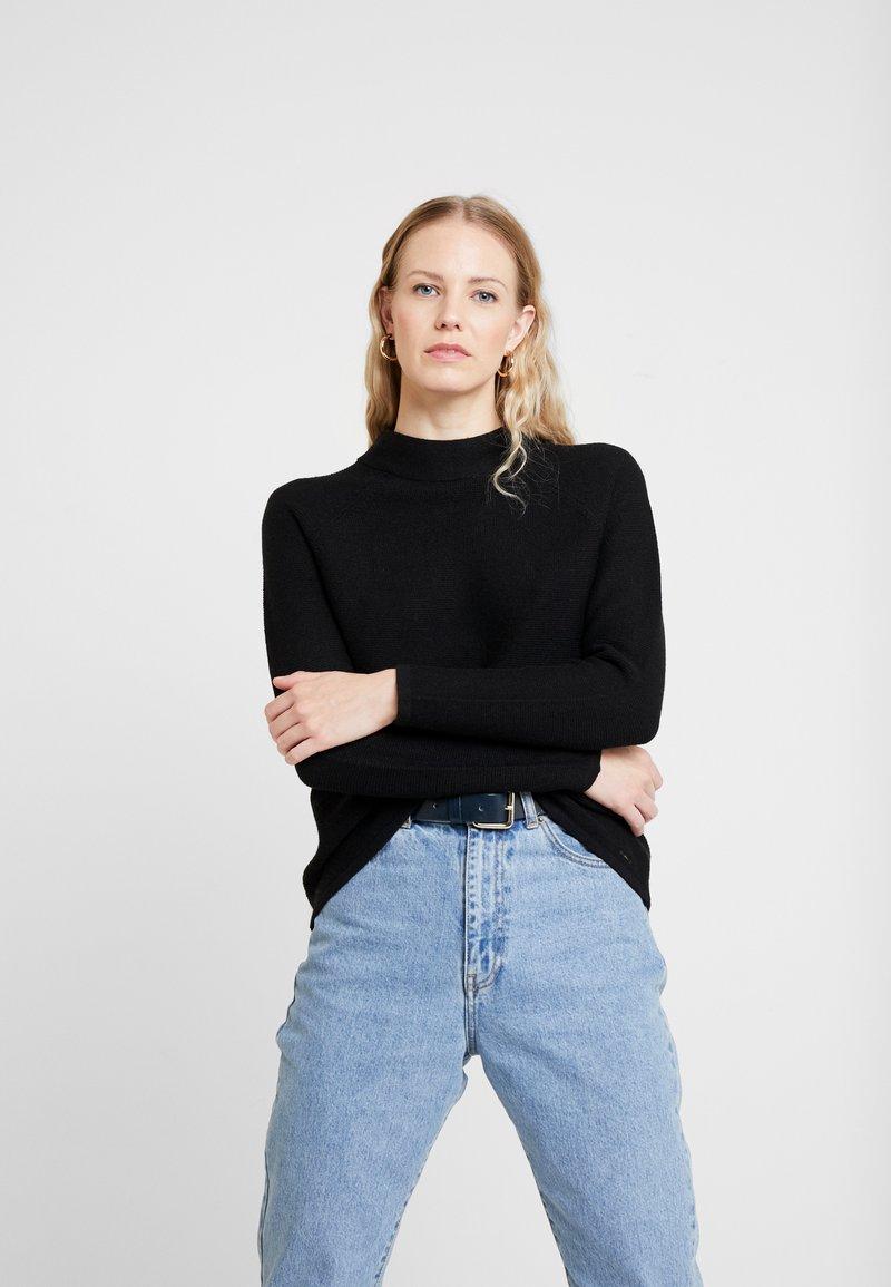 s.Oliver - LANGARM - Stickad tröja - black
