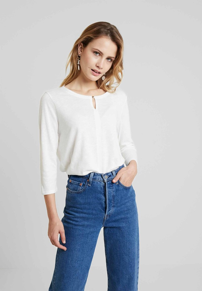 s.Oliver - 3/4 ARM - Long sleeved top - creme