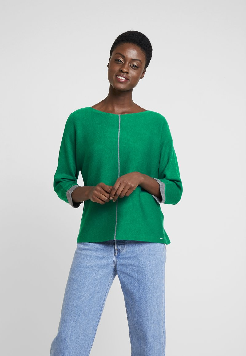 s.Oliver - LONG SLEEVE - Strickpullover - green