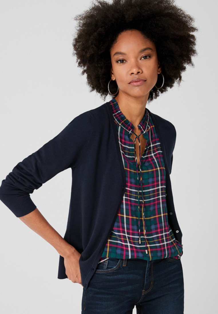 s.Oliver - SLIM FIT - Strickjacke - dark blue
