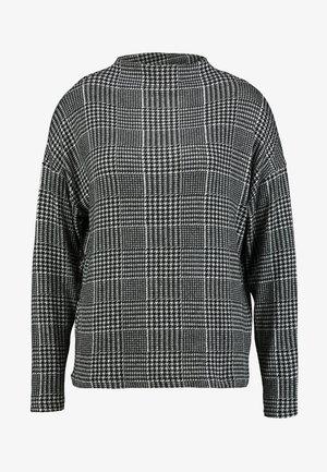 Stickad tröja - grey melange