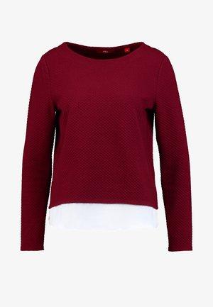 T-SHIRT LANGARM - T-shirt à manches longues - bordeaux