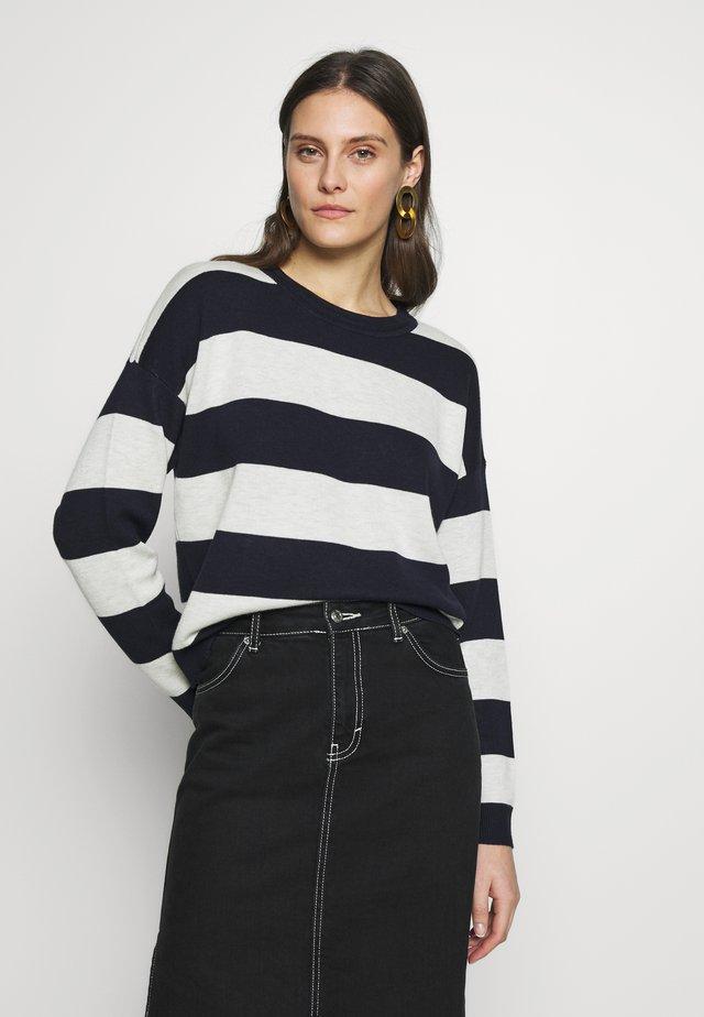 Jersey de punto - navy strip