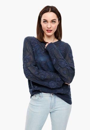 Trui - dark steel blue knit