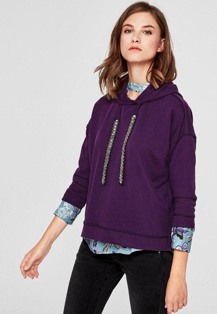 s.Oliver - LANGARM - Hoodie - purple