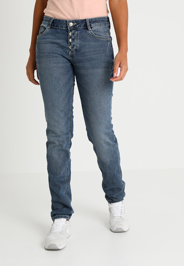 s.Oliver - Džíny Slim Fit - blue denim stretch