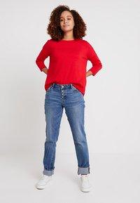 s.Oliver - SMART - Straight leg jeans - middle blue denim - 1