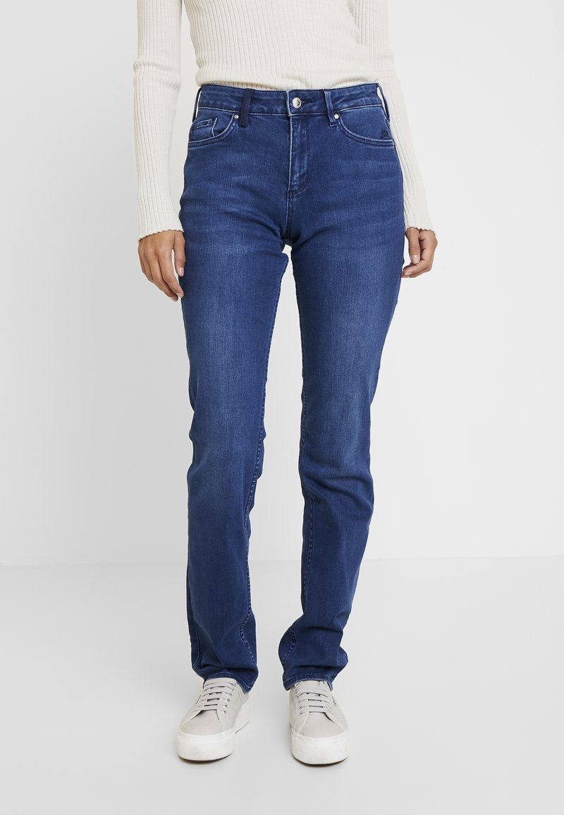 s.Oliver - SMART - Straight leg -farkut - blue denim stretch