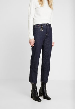 CROPPED - Straight leg jeans - rinse wash stretch