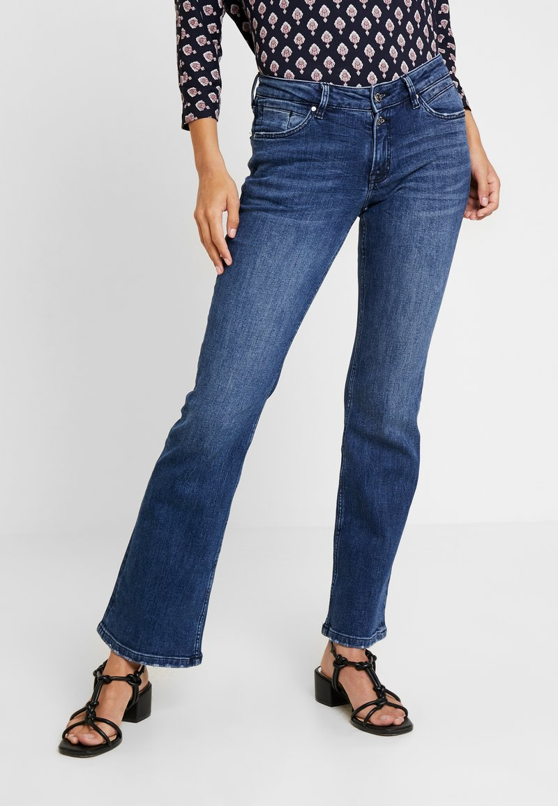 s.Oliver - Bootcut jeans - blue denim stretch